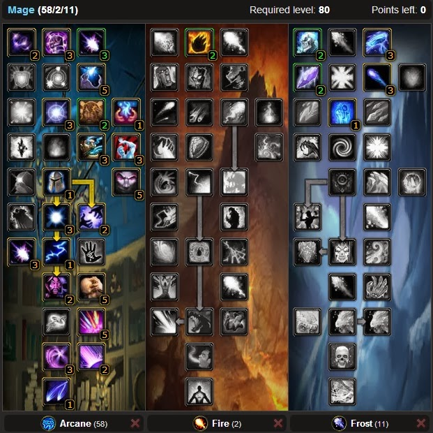 Wow Best Pvp Pve Talent Leveling Guide Best Mage Arcane Dps Pve Talent Build Wotlk 3 3 5 Talent Guide