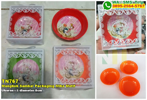 Mangkok Sambal Packaging Mika Motif