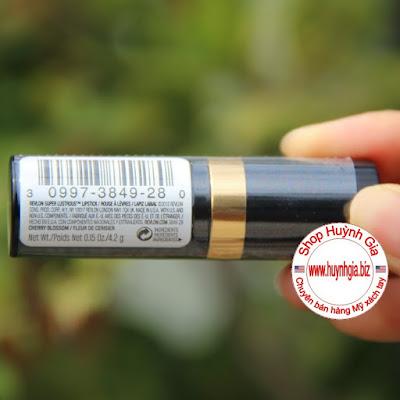 Son Revlon Super Lustrous Lipstick cherry blossom 028 màu đỏ cherry của Mỹ www.huynhgia.biz