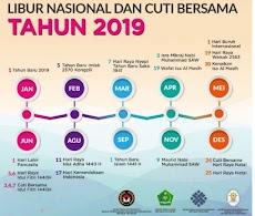 Catat ! Daftar Hari Libur Nasional dan Cuti Bersama Tahun 2019
