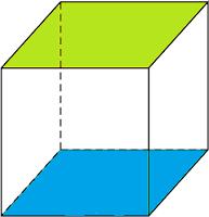Gambar sebuah kubus yang akan kita cari jaring-jaringnya