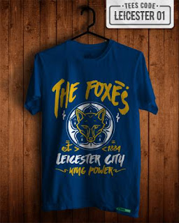 kaos distro bola Leicester City