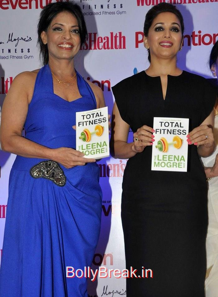 Leena Mogre, Madhuri Dixit, Madhuri Dixit Hot Pics at Leena Mogre's 'Total Fitness' Book Launch