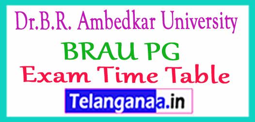Dr.B.R. Ambedkar University BRAU PG Exam Time Table