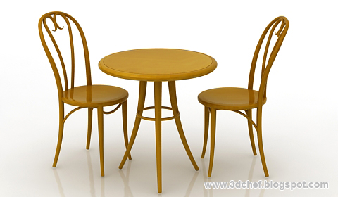 Free Ds Max Model Table Set Free D Model