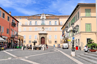 The Pope has his summer residence in Castel Gandolfo