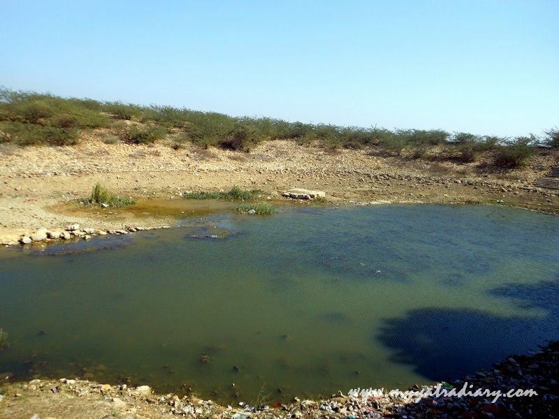 A pond at the backside of the Nageshwar Jyotirling Shiva Temple, Bet Dwarka