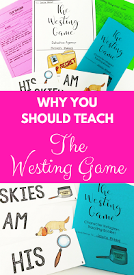 This blog post walks you through how to effectively teach The Westing Game in your middle school classroom! These ideas are perfect for keeping your students engaged and intrigued throughout the whole novel!