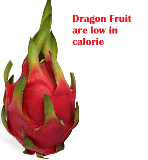 Dragon Fruit are low in calorie