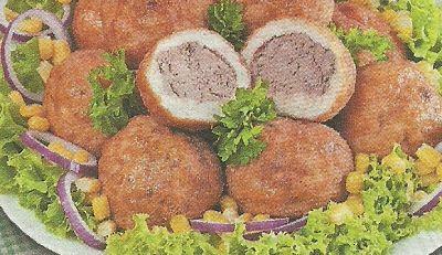 Печеночные шарики-вкусное блюдо с печеночной начинкой. Начинку можно использовать овощную, грибную или рисовую.