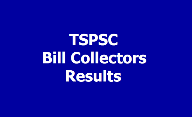 TSPSC Bill Collectors Merit List Results 2019 (Telangana GHMC)