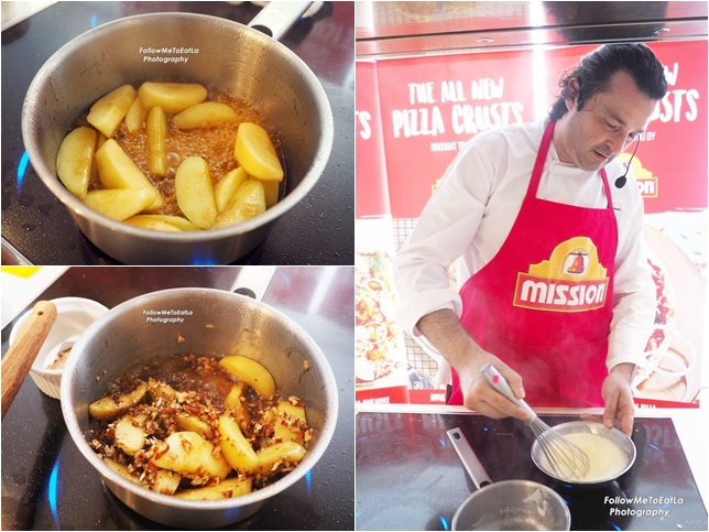 The Making Of The Apple Strudel Pizza with Pecans & Cream Custard