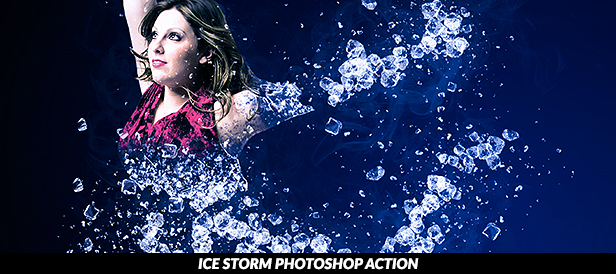 Ice Storm Photoshop Action