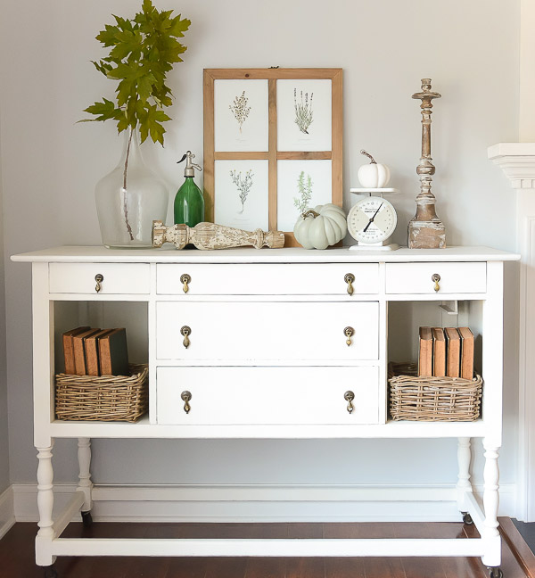 Fall Decor Console Table