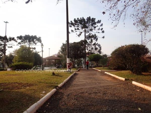 Praça da Matriz em Canoinhas