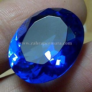 Batu Permata Natural Blue Obsidian - ZP 739