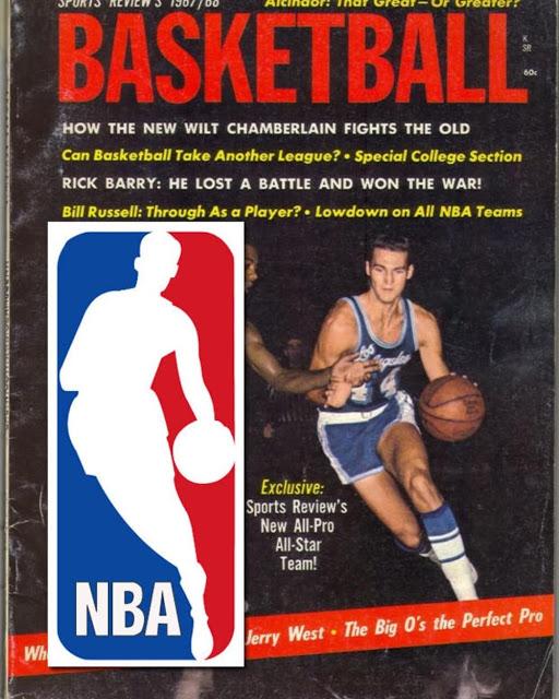 Portada de la revista en la que se basó el logo de la NBA