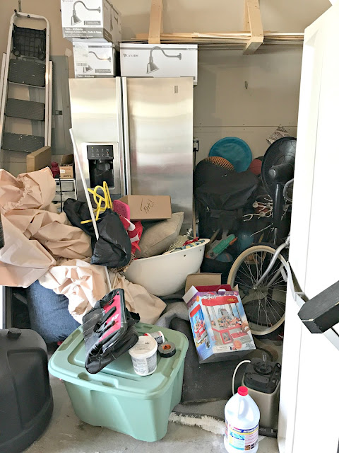 Purging and organizing a messy garage