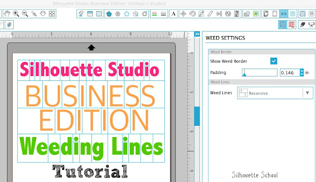 Silhouette tutorial, Silhouette Studio, weeding lines, business edition