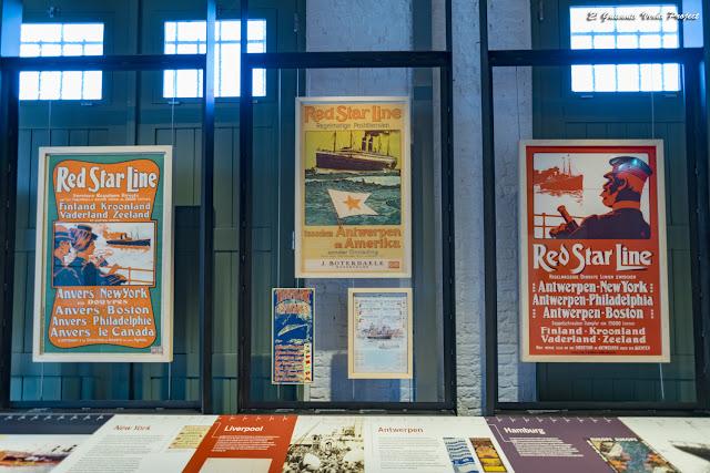 Museo Red Star Line, carteles publicitarios a todo color - Amberes por El Guisante Verde Project