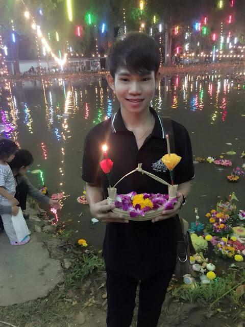 Bankok Boy on Loy Krathong day