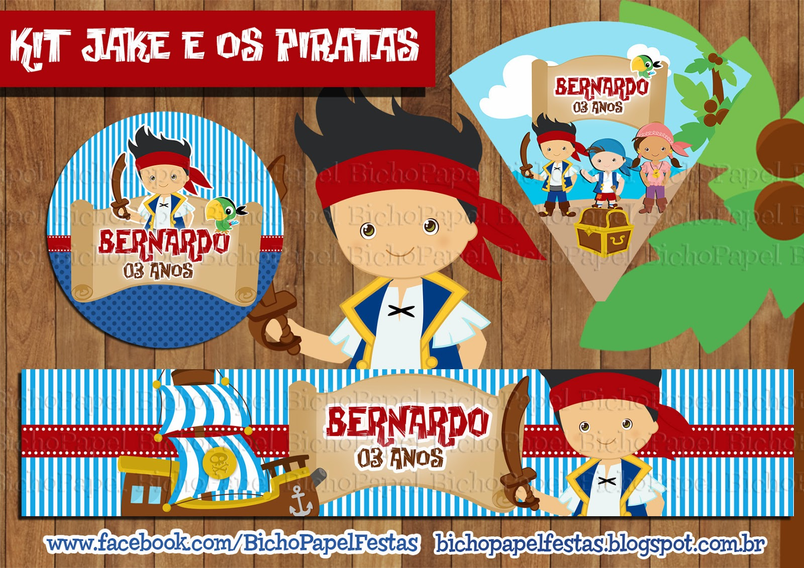 Kit Festa Jake e os Piratas