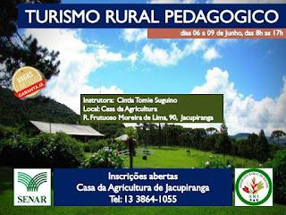 Curso de Turismo Rural Pedagógico está com inscrições abertas