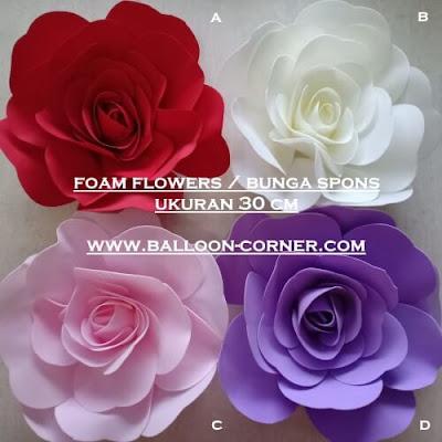 Foam Flowers / Bunga Spons Ukuran 20 & 30 Cm