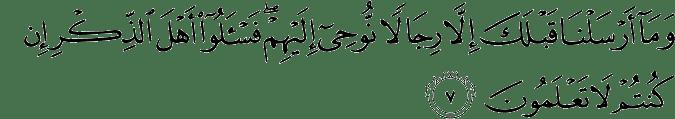 Surat Al Anbiya Ayat 7