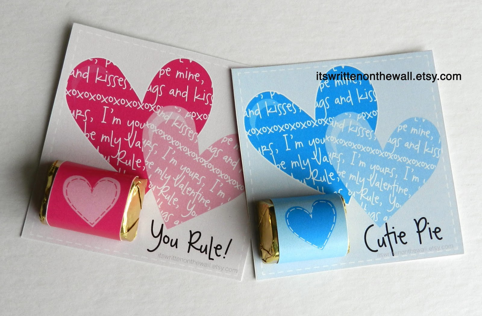 valentine's day cards especially for girls with hershey