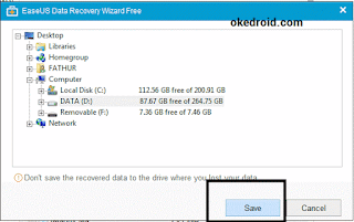 Easus Data Recovery Wizard Recover save file recovery
