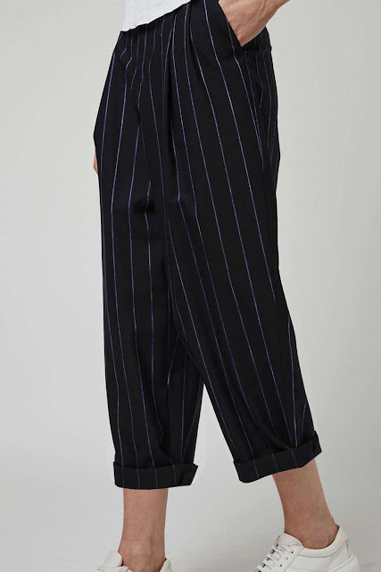 boutique pinstripe trousers, topshop pinstripe trousers,