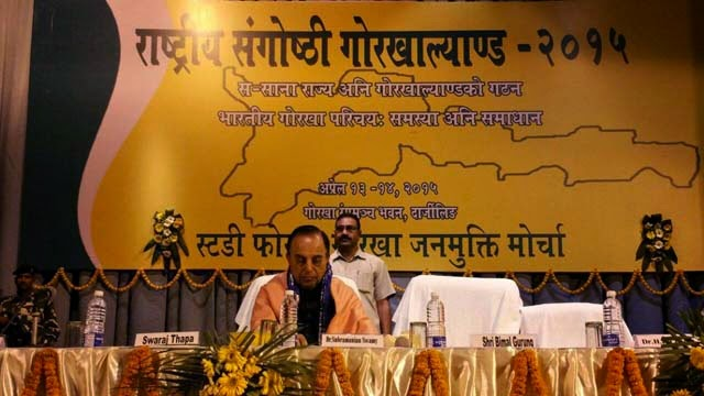 BJP leader Subramanian Swamy in Darjeeling for Gorkhaland seminar
