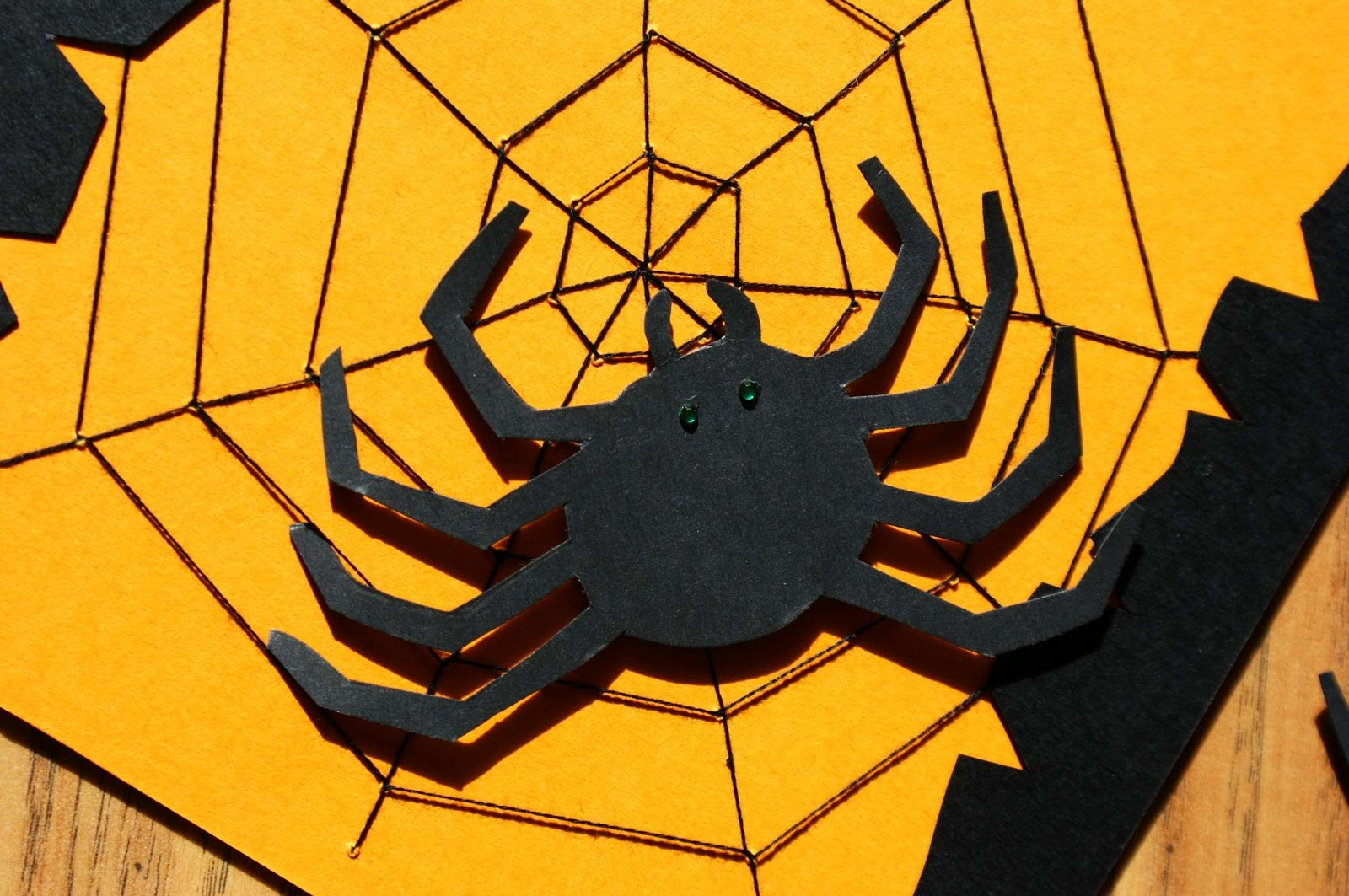 Craft Magic Handmade Halloween Cards How To Make A Spider Web