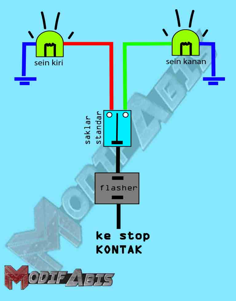 Cara Membuat Lampu Sein Motor Nyala Semua Seperti Mobil