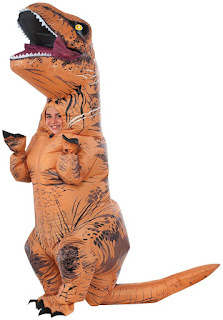 Jurassic World: T-Rex Inflatable Child Costume - Brown - One-Size
