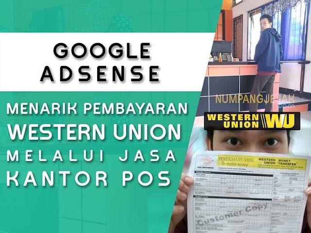 mencairkan pendapatan google adsense dengan western union di kantor pos