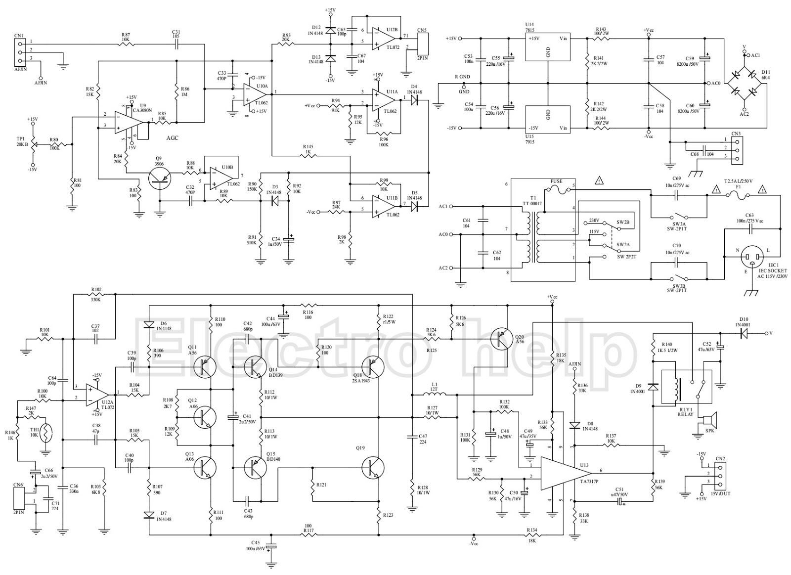 Woofer Amplifier Circuit Diagram Smart Wiring Diagrams C36 Kef Psw 2500 Powered Sub Schematic Car Subwoofer Pdf