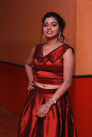 Tamil Actress Anisha Xavier Pos in Red Dress at Pichuva Kaththi Tamil Movie Audio Launch  0014.JPG