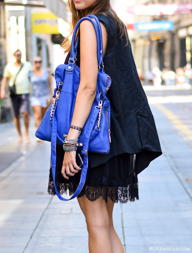 Style inspiration: casual outfit with a little black dress, street style fashion Stajling inspiracija: casual outfit s malom crnom haljinom, Mia Tošić, how to wear little black dress, streetstyle fashion