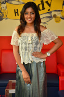 Eesha in a cute deep neck top and Skirt at at Big FM 044.JPG