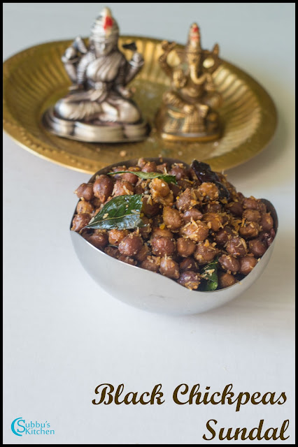 Black Chickpeas Sundal