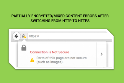 How to fix partially encrypted/mixed content errors after switching from HTTP to HTTPs (SSL)?