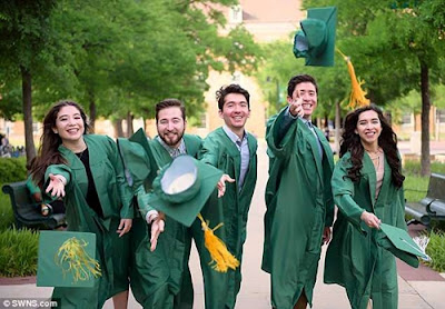 Proud Father Watches His Quintuplets All Graduate From The Same University (Photos)
