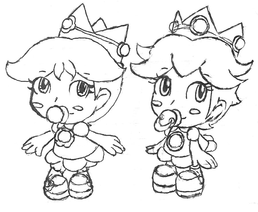 Princesa De Mario Bros Para Colorear: Desenhos Da Princesa Do Mario Para Colorir