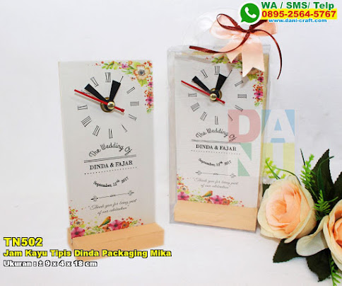 Jam Kayu Tipis Dinda Packaging Mika