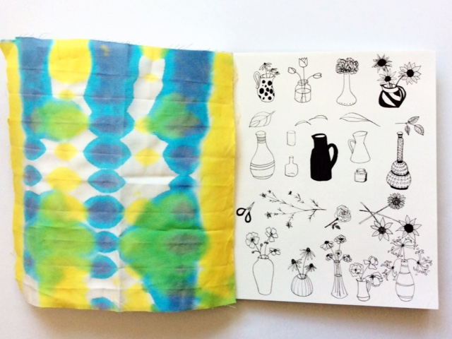 2x2 Sketchbook, #2x2sketchbook, Dana Barbieri, Anne Butera, Sketchbooks, collaboration, artist collaboration, drawings, fabric design