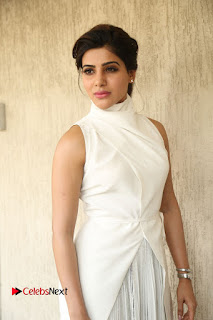 Samantha Latest Picture Gallery in White Stylish Dress at A Aa Movie Interview ~ Bollywood and South Indian Cinema Actress Exclusive Picture Galleries