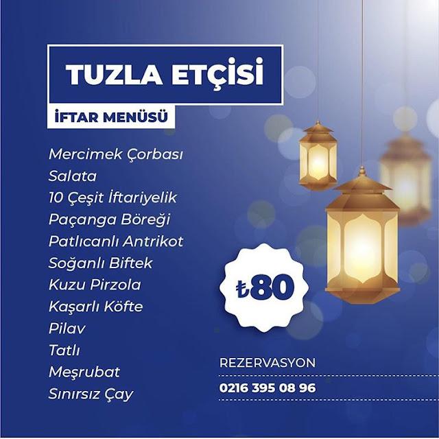tuzla etçisi fiyatlar tuzla ramazan menüleri tuzla etçisi ramazan menüsü istanbul iftar programları