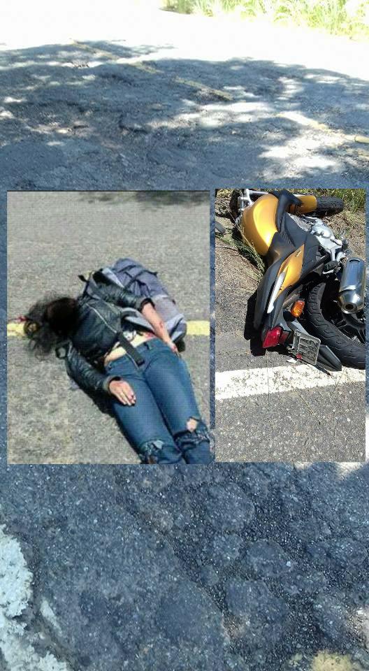 ... a motociclista estava em uma CB 300.Não se sabe até o momento se havia  mais algum veículo no acidente.Foi encaminhada para Itaperuna. 951c42c89624c